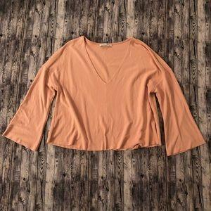 Women's Zara Bell Sleeve Crop Top